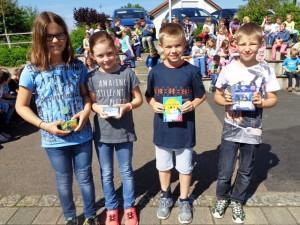 Luisa, Tamina, Patrick und Colin erhielten einen 3. Preis.